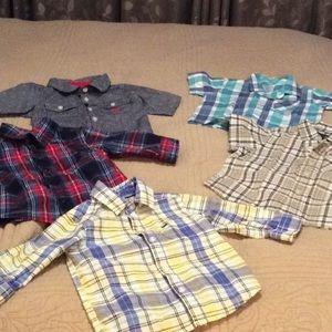 Toddler Plaid Shirt Bundle - 5 Items